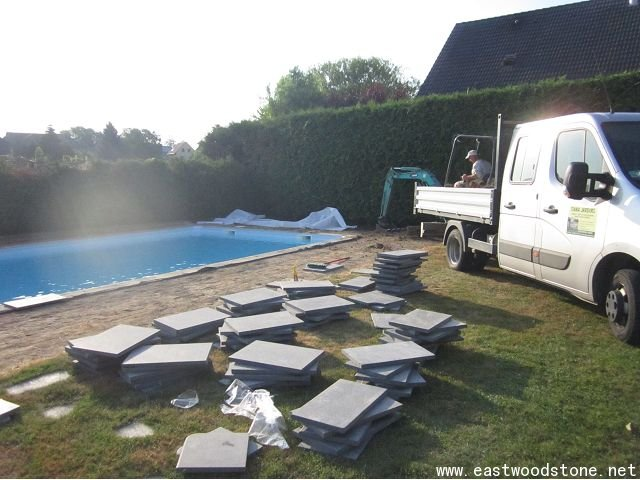 granite swimming pool deck