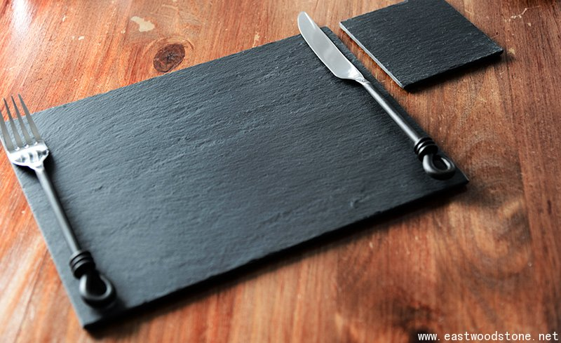 Rectangle Black slate