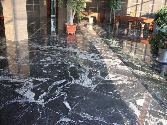 Natural kashmir black granite tiles