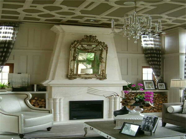 Popular stone fireplace for decoration