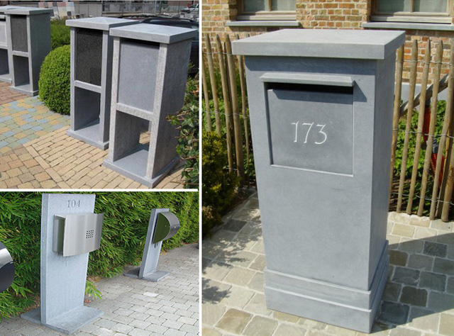 China spotted bluestone mailboxes