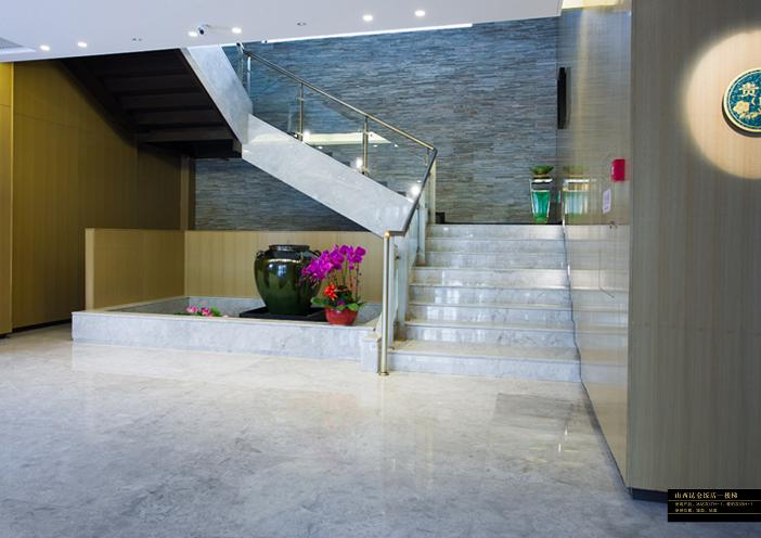 Polished natural decorative stone stair