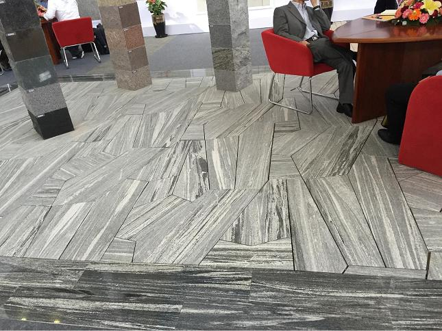 Cross Fantasy Grey granite for flooring paves